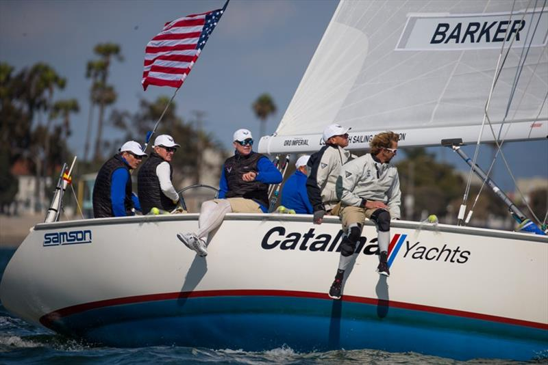 Helmsman Dean Barker, Skipper Terry Hutchinson and sailors Sean Clarkson, James Baxter, James Dagg and Greg Gendell competed at the Ficker and Congressional Cups in Long Beach, California - photo © Sharon Green / Ultimate Sailing / Congressional Cup