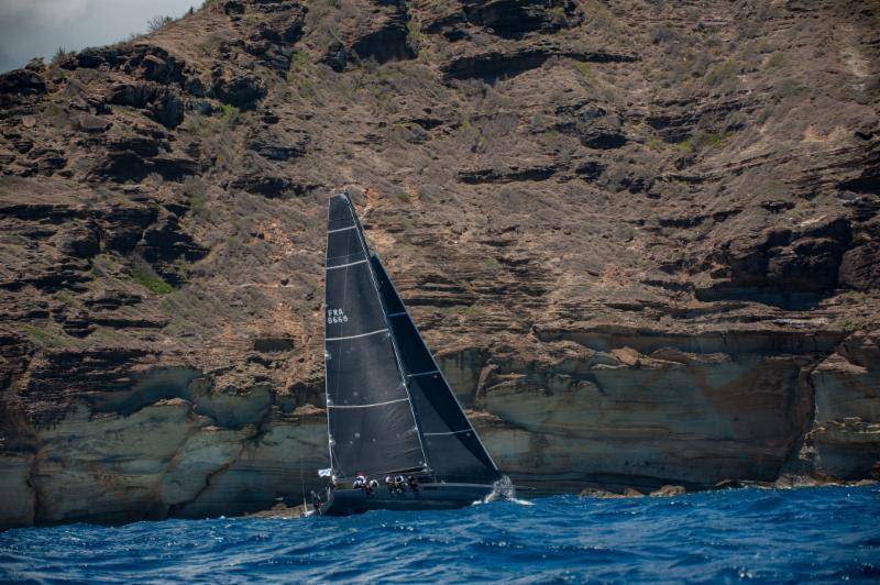 Reluctantly retired from the Antigua Bermuda Race: Teasing Machine, Eric de Turckheim's French Nivelt-Muratet 54 - photo © Ted Martin