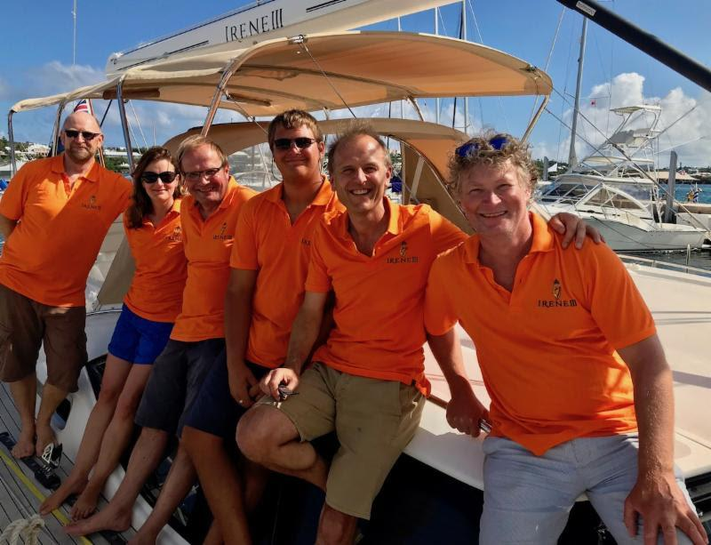 The crew of Irish Oyster 575 Irene III enjoyed a gastronomic crossing to Bermuda - photo © Louay Habib