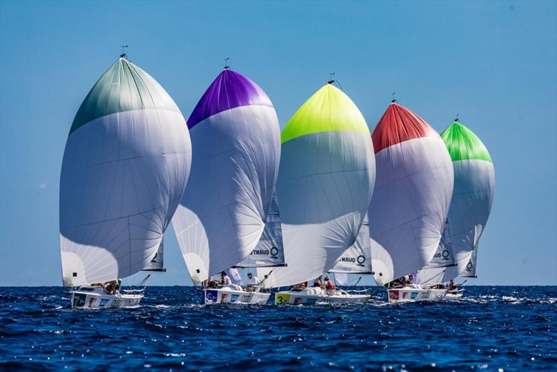 The fleet of Sailing Champions League photo copyright SCL / Lars Wehrmann taken at  and featuring the IRC class