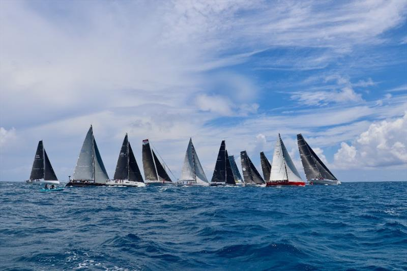 Some of the 16-yacht strong fleet heading towards Europe. - photo © Anna Budel / AAR