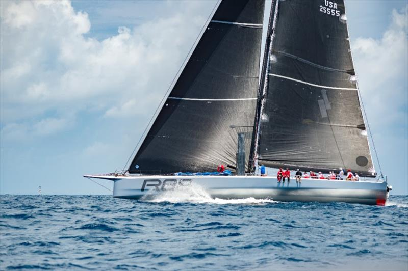 Rambler at the start area of the AAR race from Bermuda to Hamburg on July 8, 2018.  photo copyright John Manderson taken at Yacht Club Costa Smeralda and featuring the IRC class