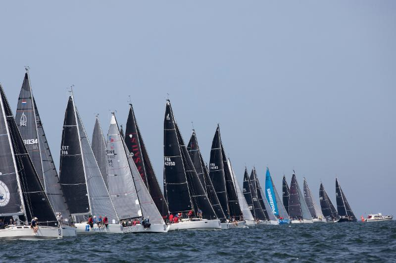 Close Class C start that Sugar and Onespirit port-tacked the fleet - Hague Offshore Sailing World Championship 2018 - photo © Sander van der Borch