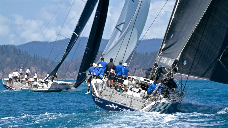Black Jack with Alive to windward - Hamilton Island Race Week - Day 6 - photo © Richard Gladwell