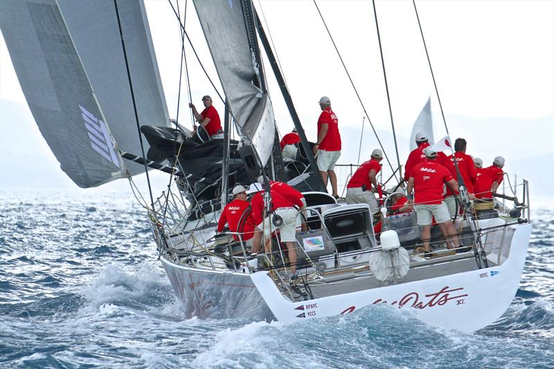 Wild Oats XI prepares for a change ahead of the rain squall - Hamilton Island Race Week - Day 6 - photo © Richard Gladwell
