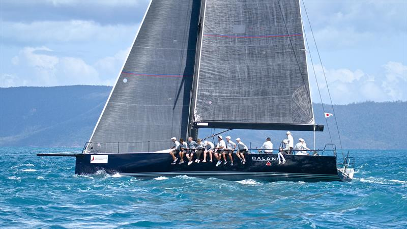 Balance negotiates the tidal race - Hamilton Island Race Week - Day 6 - photo © Richard Gladwell