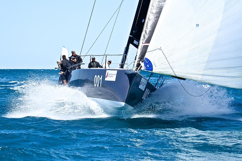 Ichi Ban surfing - Hamilton Island Race Week - August 2018, Day 1 - photo © Richard Gladwell