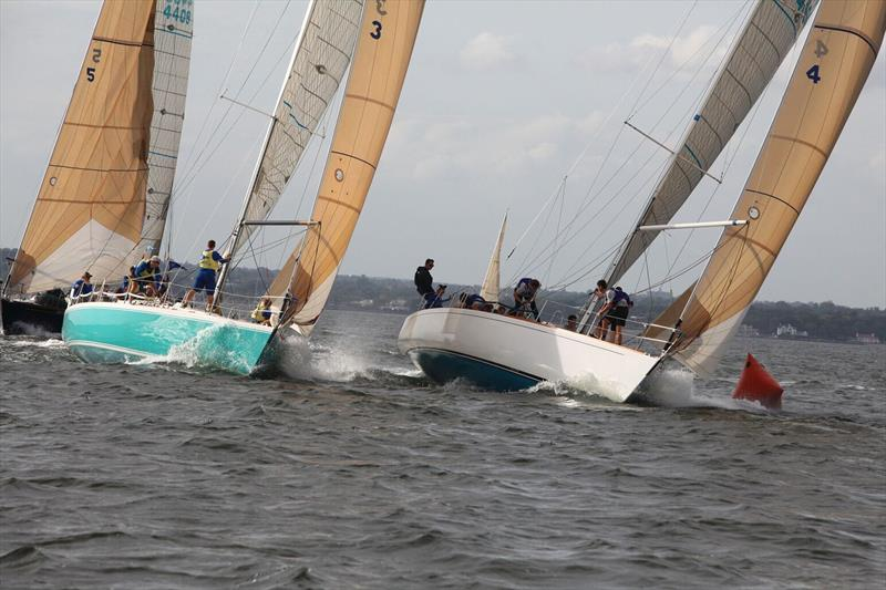 J/44s round a leeward mark at the Intercollegiate Offshore Regatta - photo © Image courtesy of the Howie McMichael