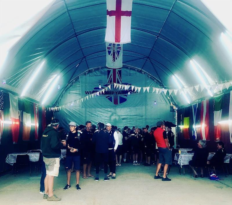 Hog Roast and drinks for all the FAST40  crews and race management team at the Wight Shipyard - photo © Louay Habib