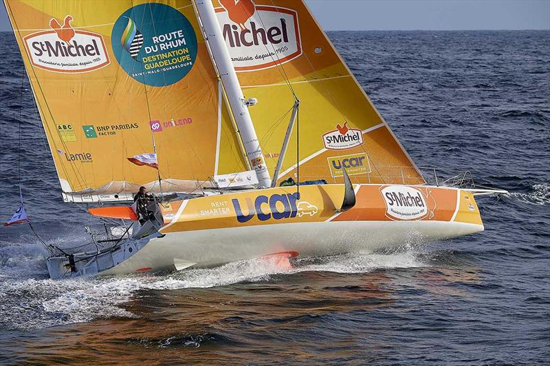 Yann Elies on UCAR St Michel - Route du Rhum-Destination Guadeloupe - photo © Yvan Zedda