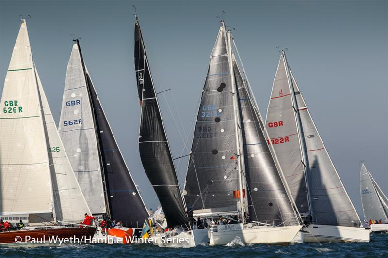IRC One start in week 6 of HYS Hamble Winter Series - photo © Paul Wyeth / www.pwpictures.com