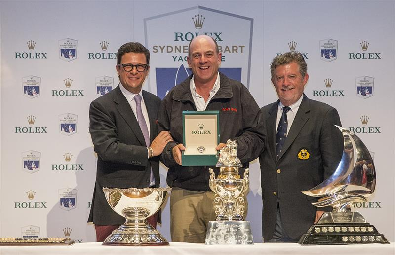 Prizegiving ceremony Overall winner Patrick Boutellier (Rolex Australia), Matt Allen (Ichi Ban) and John Markos (CYCA Commodore) - photo © Stefano Gattini
