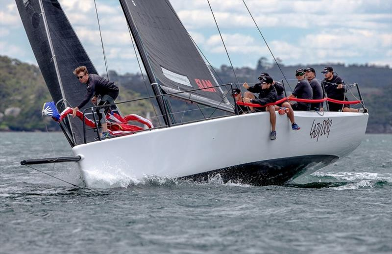 No slouches on 'Lazy Dog' in the Super 12's - Sydney Short Ocean Racing Championship - photo © Crosbie Lorimer