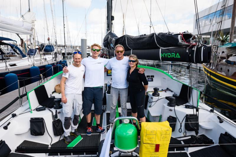 Team Hydra before the start from Marina Lanzarote - (Pip Hare's updates from Hydra: https://www.facebook.com/PipHareOceanRacing/) - Day 6 - RORC Transatlantic Race - photo © Team Hydra