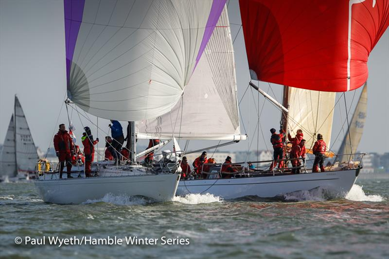 With Alacrity and Cetewayo in week 7 of the HYS Hamble Winter Series - photo © Paul Wyeth / www.pwpictures.com