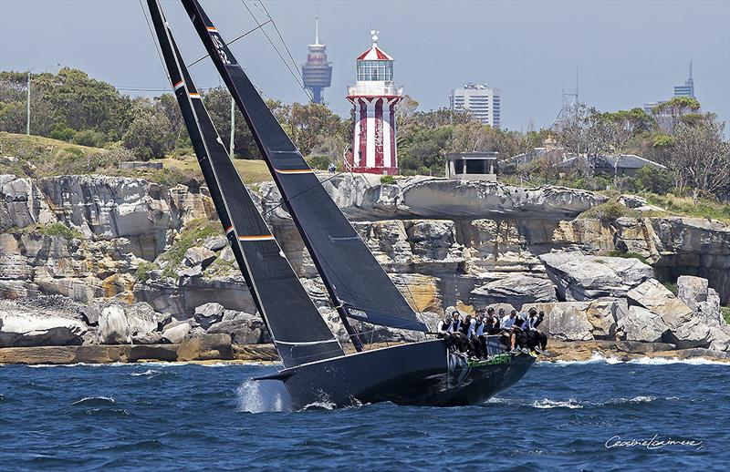 Marcus Blackmore's TP52 Hooligan passes South Head leading the CYCA Trophy fleet on Day 1 - photo © Crosbie Lorimer