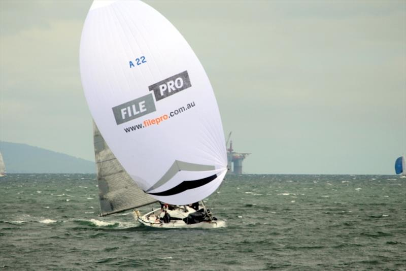 Launceston to Hobart Race entrant Filepro sailed impressively in the fresh to strong SE breeze - Combined Clubs Inshore Series - photo © Peter Watson