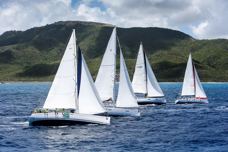 2018 Bareboat class including repeat entrants KHS&S Contractors - Antigua Sailing Week - photo © Paul Wyeth