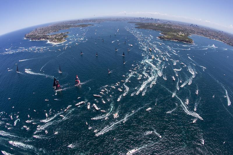 And they are away! Next stop Hobart (if it all goes to plan) - 2018 RSHYR - photo © Andrea Francolini