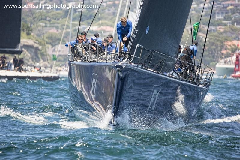Black Jack was first out of the Heads in the 2018 Sydney Hobart - photo © Beth Morley / www.sportsailingphotography.com