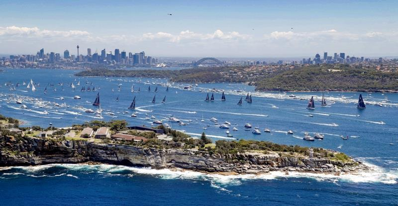 The view from south head back to the city of Sydney as the 2018 Rolex Sydney Hobart Yacht Race gets underway - photo © Rolex / Studio Borlenghi