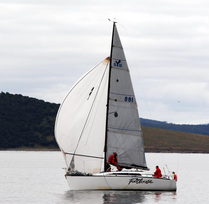 Footloose fared much better in the 2018 Riversdale Estate Wines Launceston to Hobart Race that at the finish of the Maria Island Race in November. - photo © Peter Campbell
