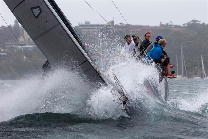 Dealing with the waves on Sydney Harbour Regatta last year - photo © Andrea Francolini / MHYC