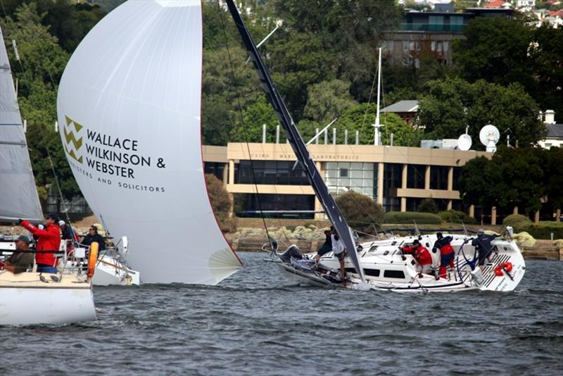 Combined Club Summer Pennant Race on Hobart's River Derwent