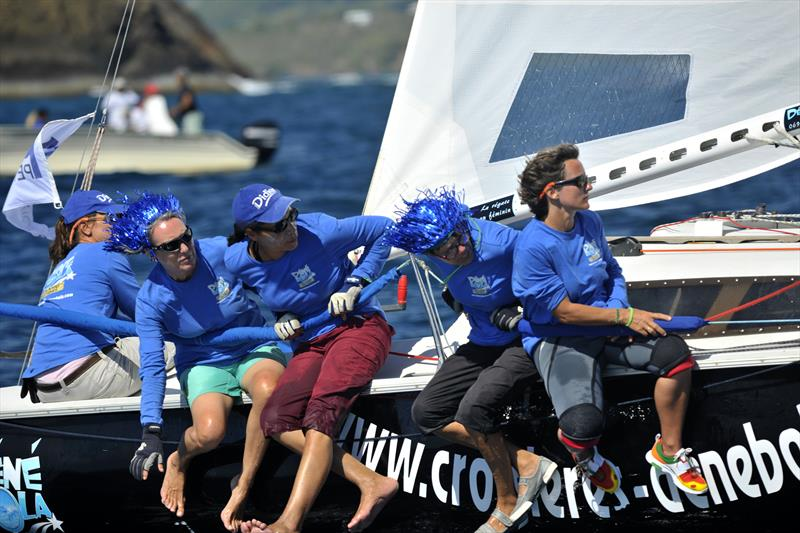 The all-female crew onboard Dénébola - Didier - photo © Image courtesy of the Round Martinique Regatta