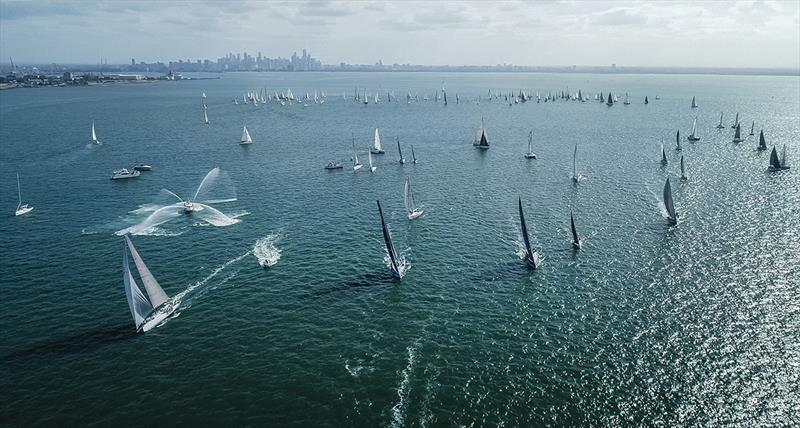 Festival of Sails - Melbourne to Geelong start - photo © Tandm Aerial