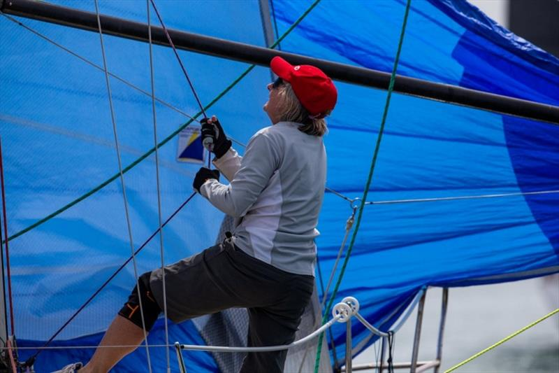 Tap dancing on the foredeck - Women in Sailing Challenge - photo © Bruno Cocozza