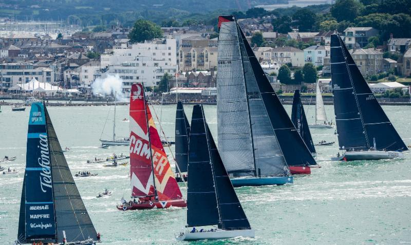 The international fleet is highly diverse, with boats ranging in size from 9m to 32m and a start sequence taking place  over a 1hr 40min period off Cowes from the Royal Yacht Squadron line photo copyright Rolex / Kurt Arrigo  taken at Royal Ocean Racing Club and featuring the IRC class