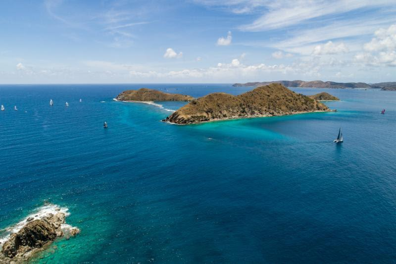 Fabulous racing conditions off Salt Island, BVI for the Mount Gay Race Day - BVI Spring Regatta 2019 - photo © Alastair Abrehart