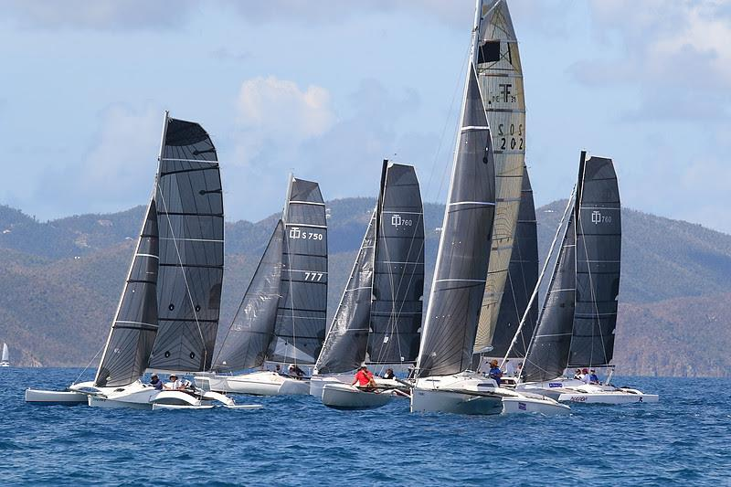 Mark Sanders from Tortola took first in the Sport Multihull division on Corsair 31 Island Hops - BVI Spring Regatta 2019 - photo © Ingrid Abery / www.ingridabery.com