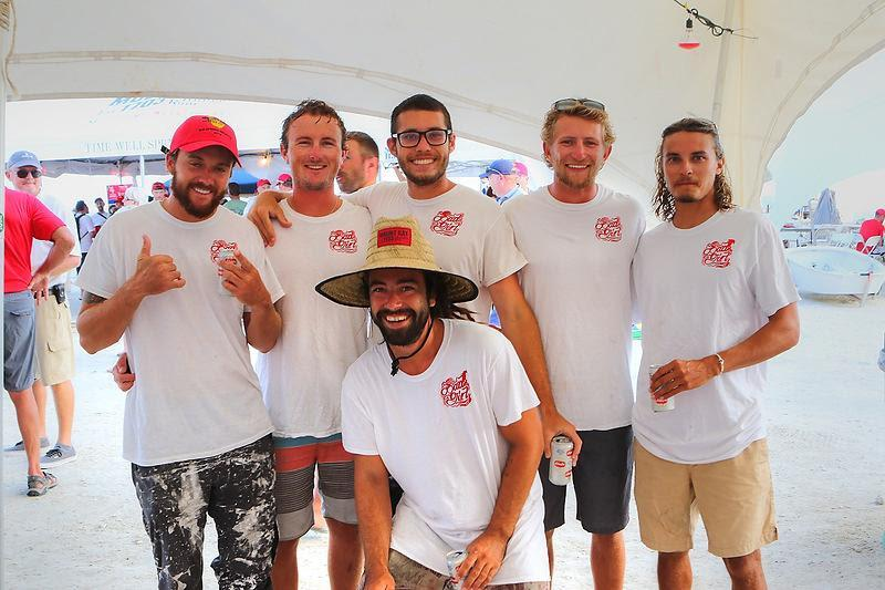 High School friends on the J/100 Bad Girl after winning their class on Mount Gay Rum Race Day - BVI Spring Regatta 2019 - photo © Ingrid Abery / www.ingridabery.com