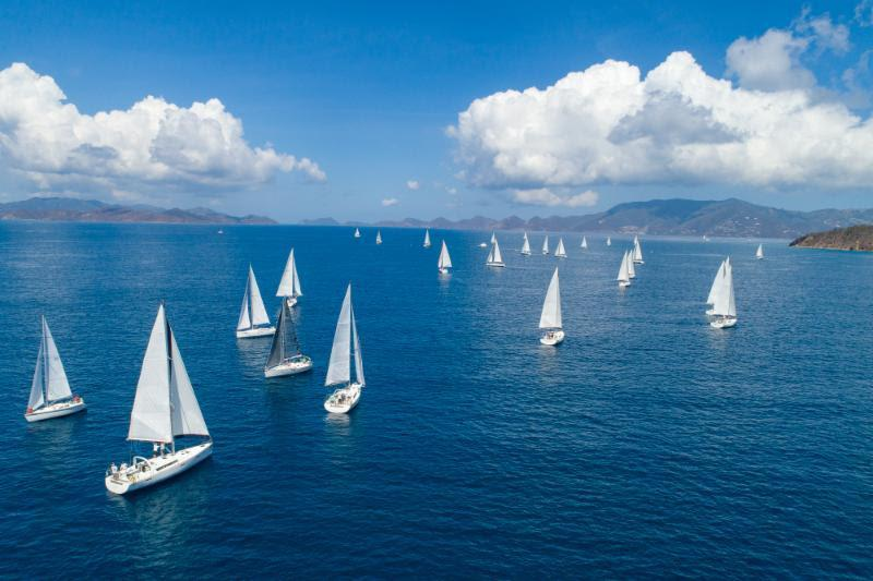 Bareboat fleet on the last day of the BVI Spring Regatta - photo © Alastair Abrehart