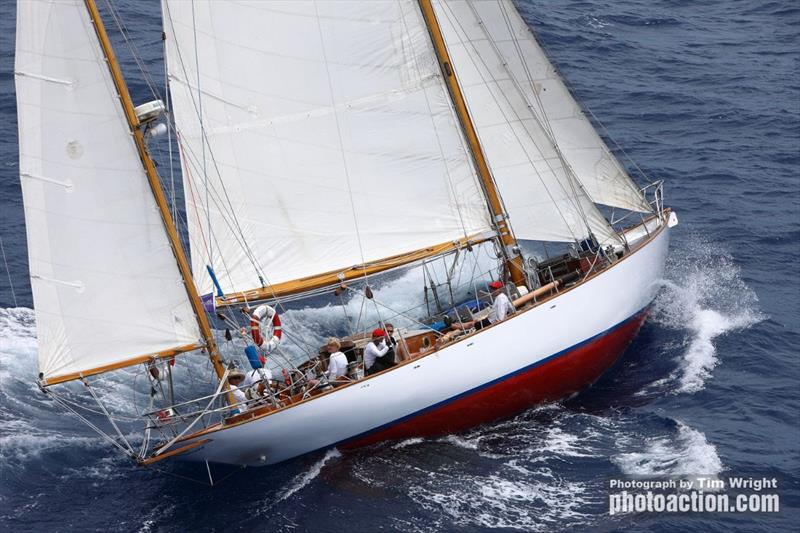 1936 Henry Gruber yawl Peter von Seestermuehe - Antigua Classics Yacht Regatta 2019 - photo © Tim Wright
