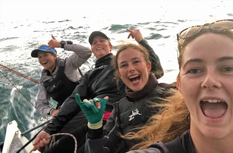 RFBYC team out racing - L-R Shelley, Chelsea, Hayley, Ella - National Sailing League Final - photo © Lisa Ratcliff