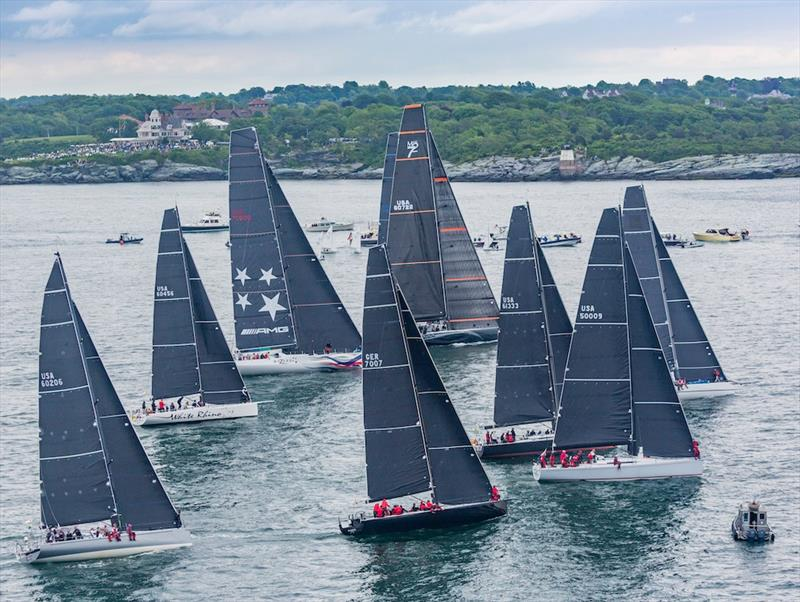 Based on a velocity prediction program, the Offshore Rating Rule handicaps cruisers and all-out racers such as in this Gibbs Hill Lighthouse Division fleet at the start of the 2018 Newport Bermuda Race. - photo © Daniel Forster / PPL