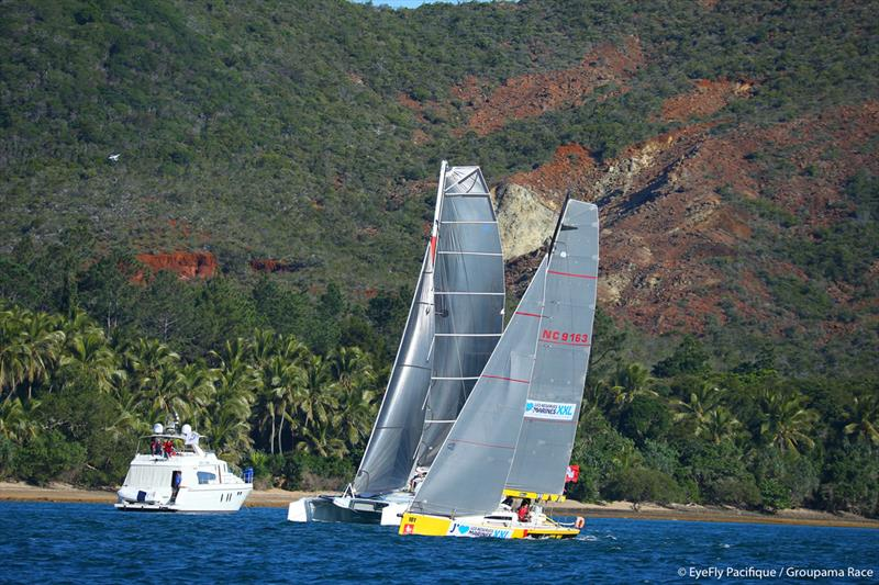 GROUPAMA RACE multihulls in Woodin Canal - photo © Eye Fly