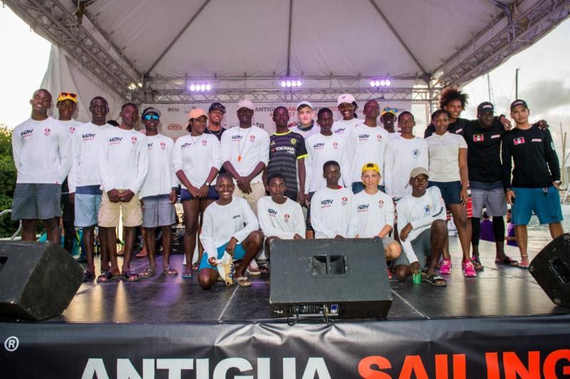 The Antigua Sailing Week Y2K (Youth to Keelboat program) pairs youth with sailing aptitude, aged 13-25 with professional crews entered in Antigua Sailing Week. Around 40 are taking part this year. - photo © Ted Martin