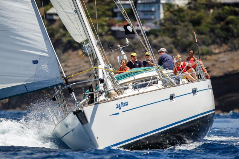 Winning the last race on the final day in Club Class - Ian Galbraith's Scottish team racing Oyster 53 Jigsaw - Antigua Sailing Week - photo © Paul Wyeth / pwpictures.com