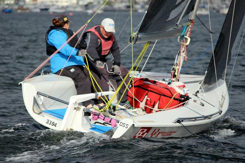 Derwent Sailing Squadron team Colleen Darcy and Scott Brain won Division 5 in the SB20, Brainwave. - photo © Peter Watson