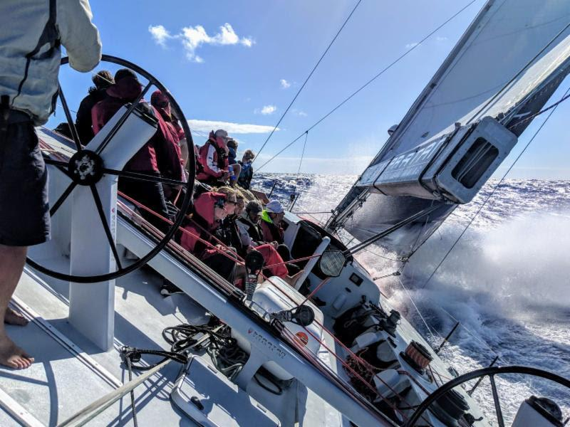 Exciting racing for all on board Spartan Ocean Racing's Volvo 60 Challenger (Lunenburg, Nova Scotia), skippered by round the world yachtsman, Chris Stanmore-Major - Antigua Bermuda Race photo copyright Melodie taken at Royal Bermuda Yacht Club and featuring the IRC class