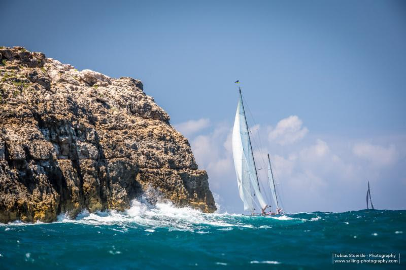 Bermuda bound - the fleet in the 3rd edition of the Antigua Bermuda Race head off after the start from Antigua  - photo © Tobias Stoerkle - www.sailing-photography.com