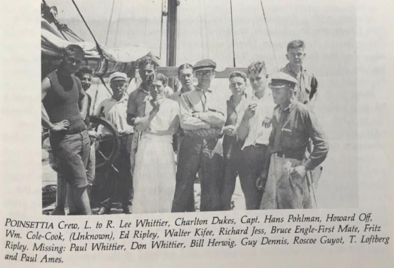 Archival photo of the Whittiers and some of the rest of the Poinsettia crew photo copyright Transpacific Yacht Club taken at  and featuring the IRC class