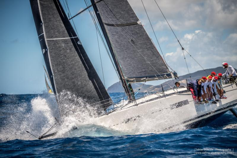 Currently leading the IRC Racing Class - British Lombard 46 Pata Negra - 2019 Antigua Bermuda Race, Day 4 - photo © Tobias Stoerkle
