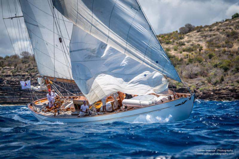 Leading CSA Cruising Class in the Antigua Bermuda Race - Carlo Falconne's Mariella - photo © Tobias Stoerkle