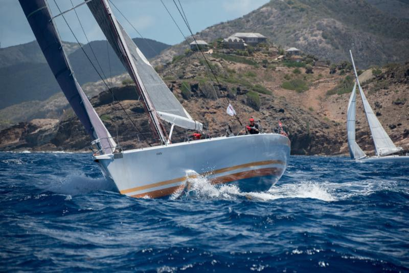 Afansay Isaev's Grand Mistral 80 Maxi Weddell (RUS) - 2019 Antigua Bermuda Race, Day 6 - photo © Ted Martin