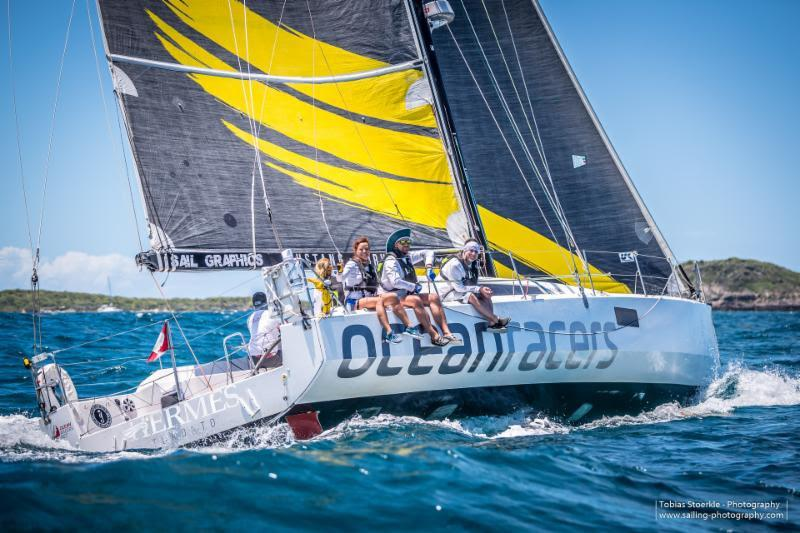 Morgen Watson and Meg Reilly's Pogo 12.50 from Canada took third place in CSA - 2019 Antigua Bermuda Race  photo copyright Tobias Stoerkle taken at Royal Bermuda Yacht Club and featuring the IRC class